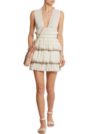 Glory ruffled cotton-gauze mini dress