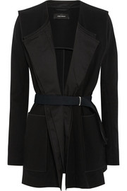 Lapaz belted cotton-crepe jacket