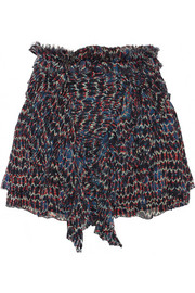 Isabel Marant Melissa printed silk-chiffon mini skirt