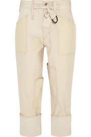 Vega stretch-canvas wide-leg pants