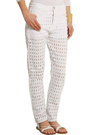 Isabel Marant Pierce cutout high-rise boyfriend jeans