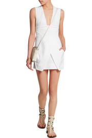 Imba stretch linen-blend mini dress