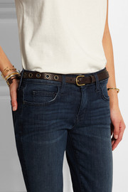 Isabel Marant Lex eyelet-embellished textured-leather belt