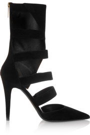 Tamara Mellon Magnetic cutout suede pumps