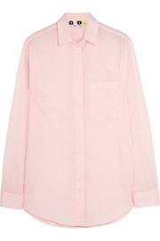 Ruffle-trimmed cotton-voile shirt