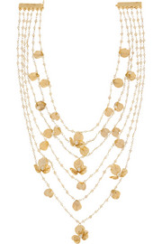 Poesia gold-tone freshwater pearl necklace
