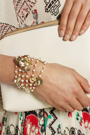 Poesia gold-tone freshwater pearl bracelet