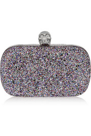 Classic Skull glittered box clutch