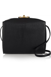 The Box lizard-effect leather shoulder bag