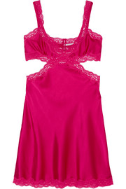 Clara Whispering lace-trimmed stretch-silk chemise