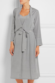 Stella McCartney Ellie Leaping printed stretch-silk crepe de chine robe
