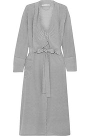 Ellie Leaping printed stretch-silk crepe de chine robe