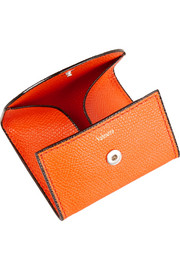 Valextra Textured-leather coin wallet