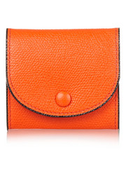 Textured-leather coin wallet