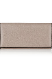 Valextra Textured-leather continental wallet