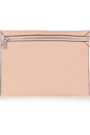 Valextra Textured-leather pouch