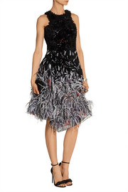 Prabal Gurung Embellished tulle and silk dress