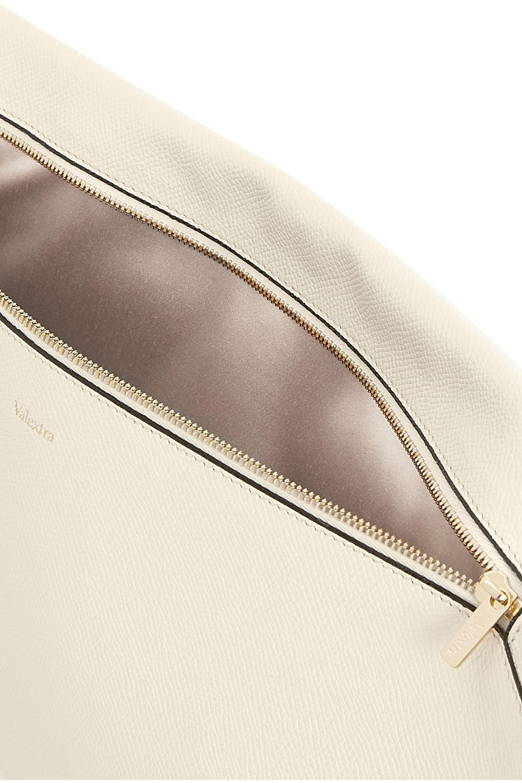 Valextra Textured-leather envelope clutch