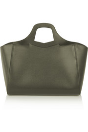 Marina textured-leather tote