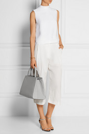 Valextra Triennale large textured-leather tote