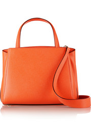 Triennale textured-leather shoulder bag