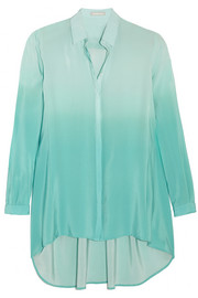 Dégradé silk crepe de chine shirt