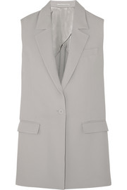 Sleeveless crepe jacket