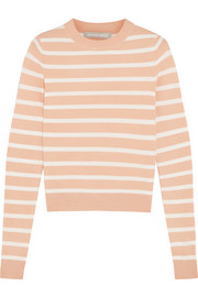 Striped stretch-knit sweater