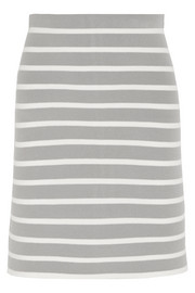 Striped stretch-knit skirt