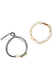 Isabel Marant Set of two shell bracelets