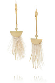 Isabel Marant Gold-plated feather earrings