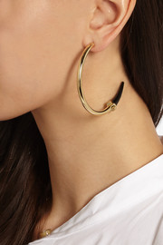 Gold-tone horn earrings