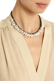 Cotton and shell necklace