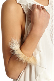 Isabel Marant Feather and gold-tone bangle