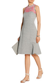 Strapless bonded cotton-jersey dress