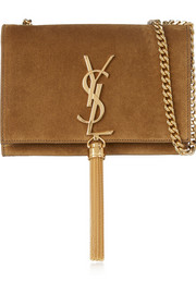Monogramme small suede shoulder bag