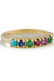 Lulu Frost CODE Dearest 18-karat gold multi-stone ring