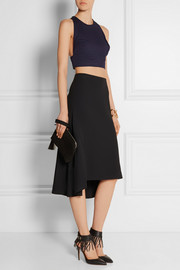 Valentino Cropped cotton and linen-blend top