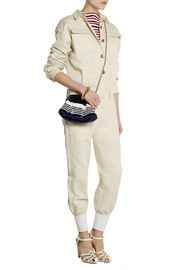 Linen and cotton-blend twill jumpsuit