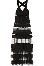 Sonia Rykiel Ruffled crepe and mesh gown