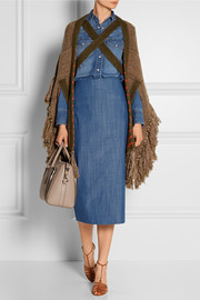 Sonia Rykiel Oversized fringed knitted cape