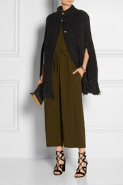 Sonia Rykiel Oversized fringed chunky-knit cape