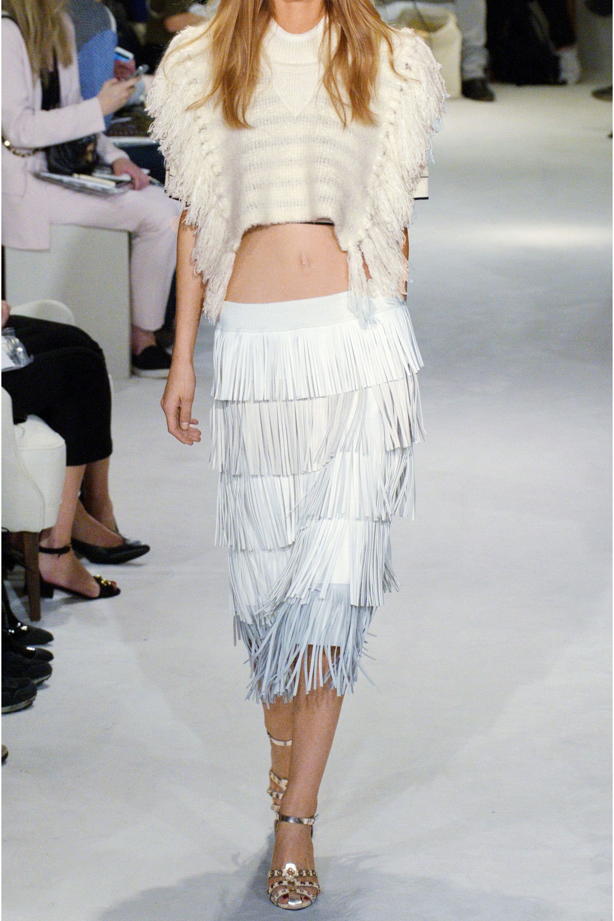 Sonia Rykiel Cropped fringed knitted sweater
