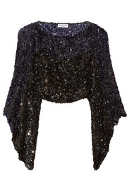 Sequined knitted cape