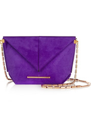 Classico suede shoulder bag