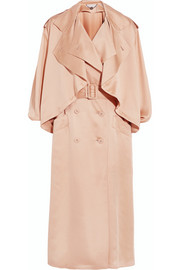 Frankie silk-satin trench coat