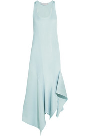 Stella McCartney Asymmetric ribbed-knit midi dress