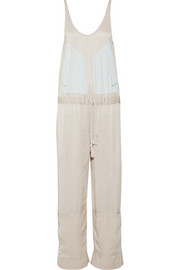 Luke silk-crepe jumpsuit