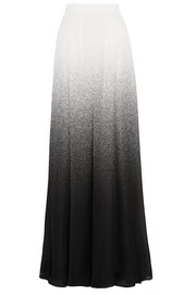 Dégradé printed silk-georgette maxi skirt