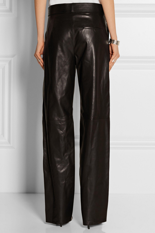 Loewe Leather wide-leg pants